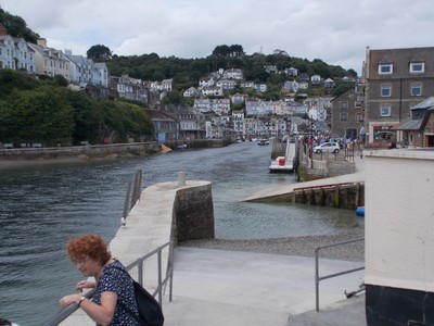 LOOE CORNWALL.Looking up the river.