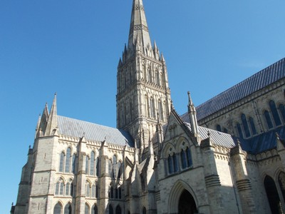 SALISBURY CATHEDRAL. Tower 225ft and spire 404ft.