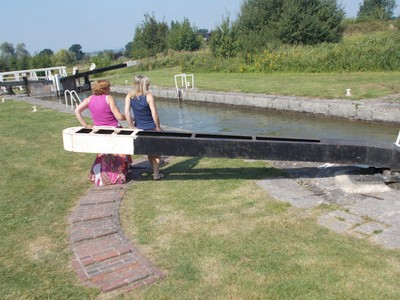 """CAEN HILL LOCKS.     .Don""""t just sit there ,  PUSH !"""