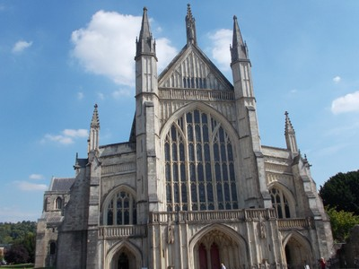 WINCHESTER CATHEDRAL WEST FACADE.