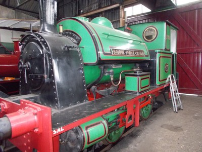 """DIDCOT RAILWAY CENTRE.  """"Bonnie Prince Charlie"""" built by Robert Stephenson and Hawthorns in 1949.   Worked in Poole Harbour."""