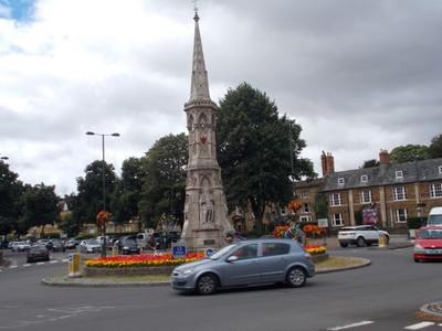 "BANBURY  UK..  This is the Banbury Cross mentioned in the English Nursery Rhyme ""Ride a Cock Horse to Banbury Cross"""