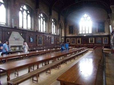 OXFORD  UK .    Dining Room  Balliol College.