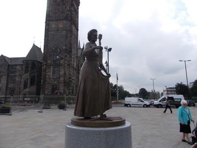 ROCHDALE.. Statue of Gracie Fields.