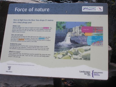HIGH  FORCE  FALLS,  Information  board.