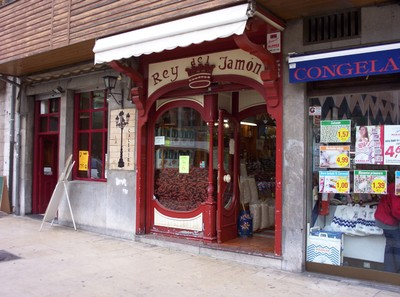 SPAIN  OVIEDA..  Window of Sausages.!