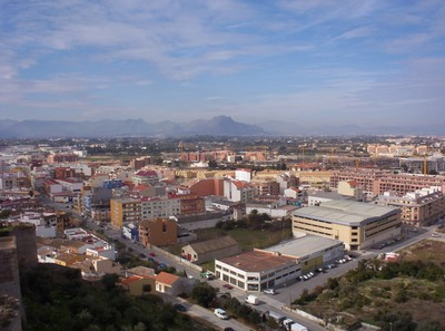 DENIA,VIEW FROM CASTLE.