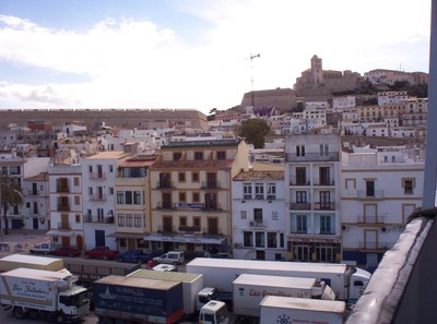 IBIZA TOWN FROM FERRY