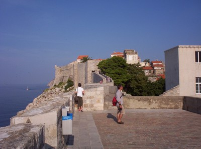 DUBROVNIK  CROATIA.    City wall,  there is a charge for admission.