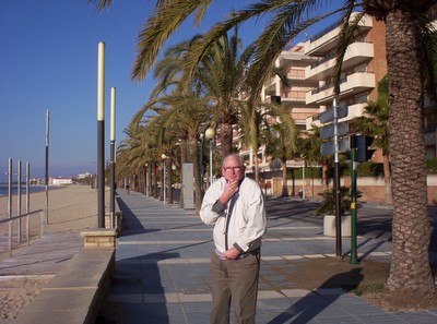 SALOU  SPAIN.  Sunny  but cold ,  in  February.