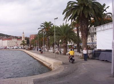 SPLIT CROATIA.   Riva, main promenade.