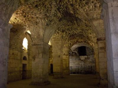 SPLIT CROATIA.    Inside Dioletian Roman Palace.. Built by Roman Emperor in AD 305.