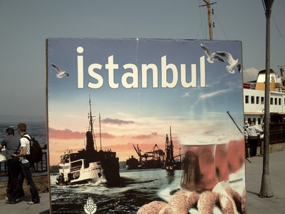 ISTANBUL  TURKEY.      A Display Sign.
