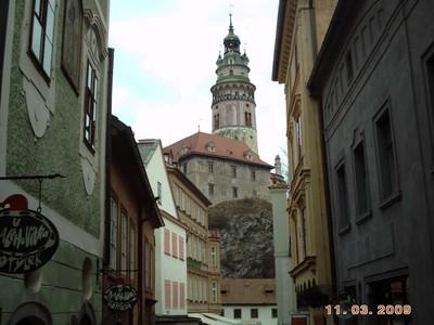 CZECH.   CESKY  KRUMLOV.  Castle Tower.