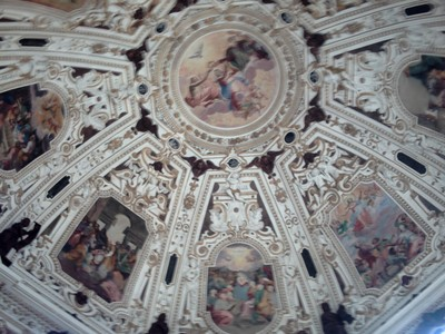 RIVA DEL GARDA  ITALY.--Inviolata  church,  ceiling.