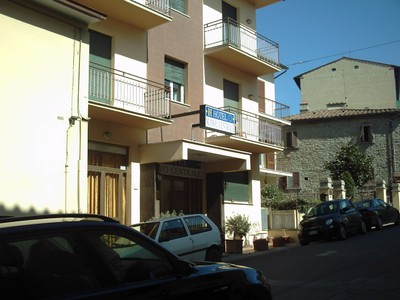 CORTONA, ITALY,  -- Hotel  near  rail  station in  lower  town,.