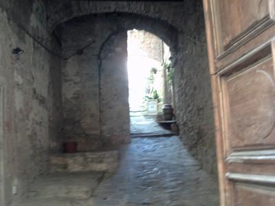 CORTONA  ITALY.  --hilly side  street.