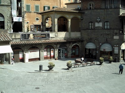 CORTONA, ITALY.  --Piazza della  Republlca.---it  was  pointed  out  to  me  that  this  was where the Andre Rieu concert took  place.