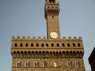 HISTORIC  FLORENCE  ITALY. - Palazzo  Vecchio,,  the  old  Palace  from  1332. - Tower  95 m.