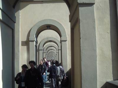 HISTORIC  FLORENCE  ITALY.   --  Walkway  by  the  river.