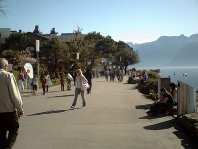 MONTREUX  SWITZERLAND.    ---   Lake  Geneva  promenade.