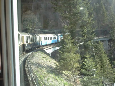 TRAIN  MONTREUX  TO  GSTAAD.--Montreux Oberland Bernois  Railway   or  M.O.B.
