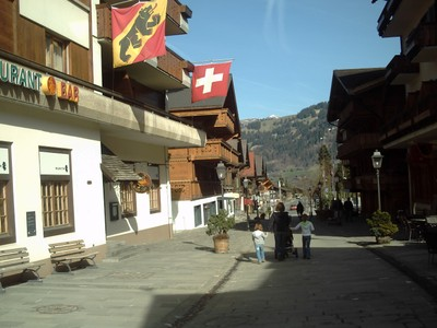 GSTAAD  SWITZERLAND.  Main  street.