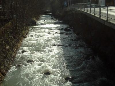 GSTAAD  SWITZERLAND   ---   Stream  in  village.  River  Sarine.