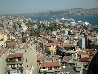 ISTANBUL  TURKEY.   View from Galata Tower.