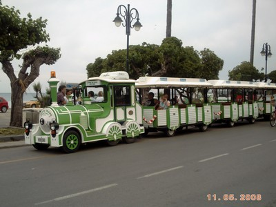 GREECE  KOS.     Tourist train,, sometimes a good way of getting to know the place.