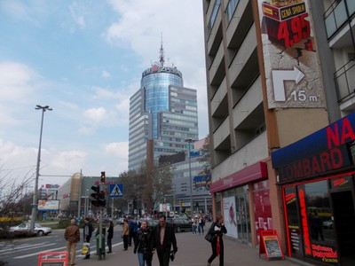 SZCZECIN  POLAND.  Modern tower with cafe at top and viewing..