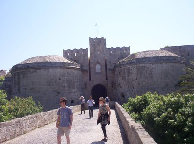 GREECE  RHODES.  Entrance to Castle.