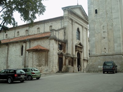 PULA  CROATIA.  Cathedral.-- Full  name, Cathedral of  the Assumption of the  Blessed  Virgin  Mary.