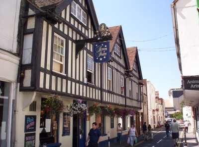 CANTERBURY  ENGLAND.   Seven  Stars  pub  in  Orange  Street.near  Cathedral.