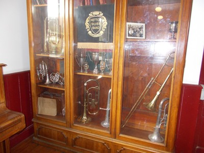 BEAMISH MUSEUM.  Some of the Bands Instruments.