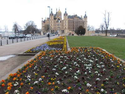 SCHWERIN  GERMANY.      The bridge to Castle Palace.