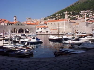 DUBROVNIK  CROATIA .  Harbour.