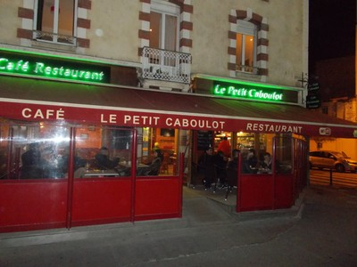 RENNES , FRANCE.  Cosy Bar.at night.