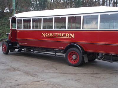BEAMISH MUSEUM. Northern General Transport Company was a bus company in Northeast England founded 1913. Ceased operation 1987. The single decker built in 1928.