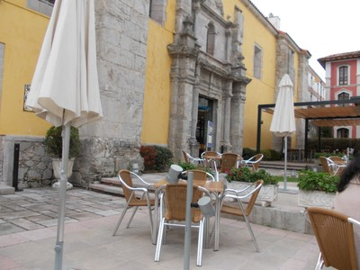 LLANES,  SPAIN. --  Hotel  Don Paco  front. --  Used to  be  the  Convent of  Augustinian  Sisters.