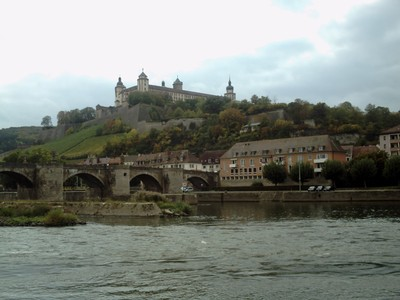 WURZBURG  GERMANY..   Castle on Left Bank of River Main.