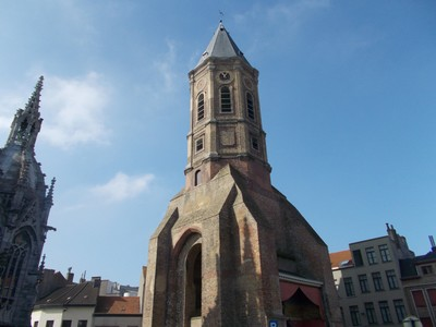 OSTEND. Peperbusse, tower of burned out church.