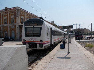 TORTOSA  Station is the end of a branch line.   --Tarragona is 90 km.---Barcelona  150 km.