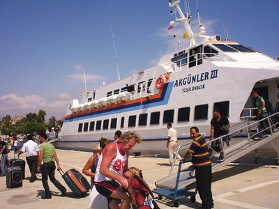 CYPRUS  KYRENIA,    Ferry for return to Tasucu.