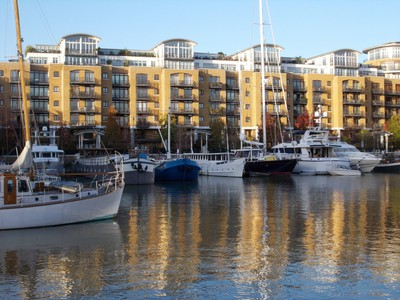 ST.  KATHARINES  DOCK,  LONDON.-- Residential, marina, offices,  shops, restaurants,  bars and  shops.