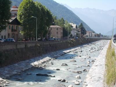 TIRANO ITALY.   River Adda.,flows to Lake Como.