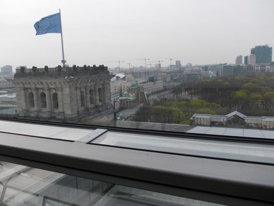 ON THE ROOF OF REICHSTAG BUILDING.