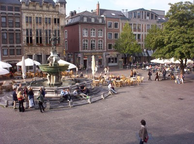 AACHEN  GERMANY.   Statue of Charlemange.in main Square