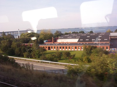 FROM THE TRAIN... The Oresund bridge can just be seen.