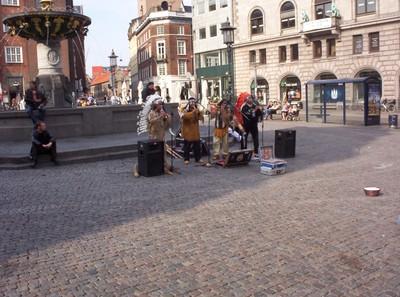 COPENHAGEN  DENMARK      .Street entertainment.
